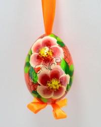 """Яйцо пасхальное деревянное подвесное """"Цветы"""", арт. 0012/1"""