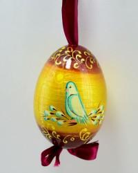 """Яйцо пасхальное деревянное подвесное """"Голубка"""", арт. 0012/2"""
