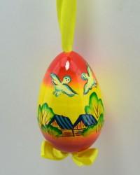 """Яйцо пасхальное деревянное подвесное """"Деревенька"""", арт. 0012/4"""