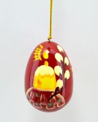 """Яйцо пасхальное деревянное подвесное """"Кулич и верба"""", арт. 0014/3"""
