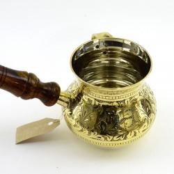 """Латунная турка 450мл. """"Луковица"""", арт. 0034/п"""
