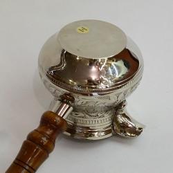 """Латунная турка в никеле 450мл. """"Луковица"""", арт. 0034"""