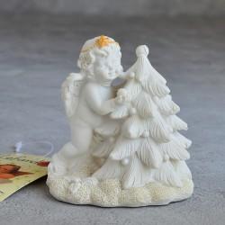 "Фигурка ""Ангел с елкой"" gold, коллекция Amore, арт. 3010"