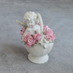 "Фигурка ""Ангел в корзине роз"" коллекция Amore, арт. 0857"