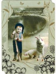 """Ретро открытка с конвертом """"Детство"""", арт. 0265"""