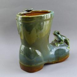 """Кашпо для цветов """"Две лягушки на сапоге"""", арт.  0298"""
