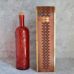 Футляр под бутылку, дерево латунь арт. 2223