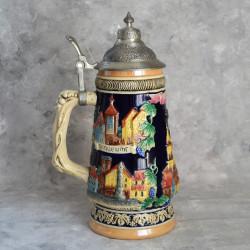 Декоративная пивная кружка с крышкой, арт. 6010/к