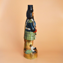 """Бутылка из под виски """"Шотландец. Волынщик"""" фарфор арт.  6014/к"""