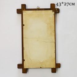 """Панно -  плитка в деревянной раме 2 в 1 """"Корзина с цветами"""", арт. 0401"""