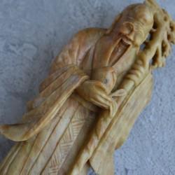 "Фигура на подставке ""Старец с персиком"", арт. 5621"