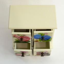"""Шкатулка комод """"Цветы"""" прованс , арт. 0465"""
