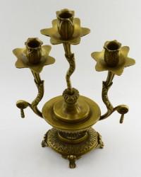 Латунный канделябр на 3 свечи, арт. 0654