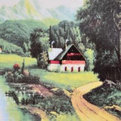 "Тарелка декоративная ""Пейзаж. Альпы"", арт. 5961"