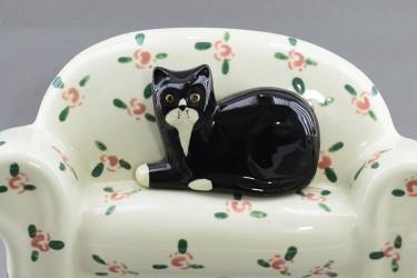 """Панно объемное """"Кот на диване"""" 16,5*25,5*4,5см, арт. 0713"""