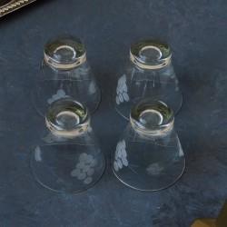 """Набор рюмок 4 шт с гравировкой """"Ягоды. Виноград"""",  арт. 5686"""