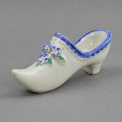 Статуэтка туфелька с голубыми цветочками, арт. 0805