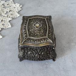 """Шкатулка ларец """"Завитки"""" серебрение арт.5926/к"""