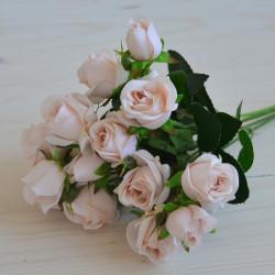 """Цветок искусственный букет мелкоцвет """"Роза"""" шампань 30см, арт. 5906/2"""