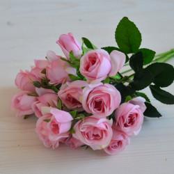 """Цветок искусственный букет мелкоцвет """"Роза"""" розовый 30см, арт. 5906/3"""