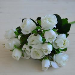 """Цветок искусственный букет мелкоцвет """"Роза"""" белая 30см, арт. 5906/1"""