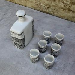 Набор Штоф + стопки 6шт. фарфор арт.5918/к