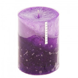 Свеча со стразами, столбик, цвет сиреневый, 10см, арт. 0841
