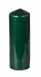 Свеча столбик темно-зеленая 20см., арт. 0844
