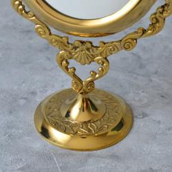 """Зеркало настольное """"Узор"""" латунь, арт. 2269"""
