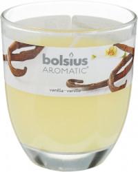 Свеча в стекле bolsius 80*70мм ваниль, арт. 4764