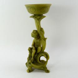 """Подсвечник - фигура """"Путти"""" зеленый, арт. 1095"""