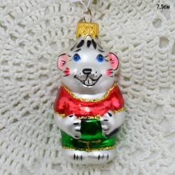 """Елочная игрушка """"Мышонок из Леопольда"""" красный, арт. 6092 ID2002/3579"""