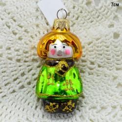 """Елочная игрушка """"Домовенок Кузя"""" в зеленом, арт. 1444 ID3598"""
