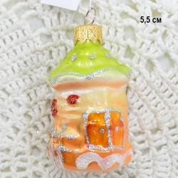 "Елочная игрушка ""Домик - пряник"", арт. 1444 ID3830"
