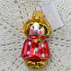 """Елочная игрушка """"Домовенок Кузя"""" в красном, арт. 1444 ID3904"""