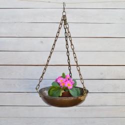 """Кашпо для цветов медное подвесное """"Чаша весов"""", арт. 3156"""