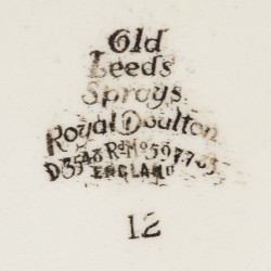"Тарелка 5шт. ""OLD LEEDS SPRAYS"", 19см. арт. 1236/2"