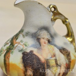"Кувшинчик миниатюра ""Девушка у лошади"" в стиле модерн арт. 1300"