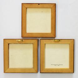 "Панно -  плитка в деревянной раме 3шт ""Замки"", арт. 1310"