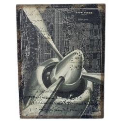 """Картина -панно ретро образ """"New York"""" мешковина, арт. 1315/1"""