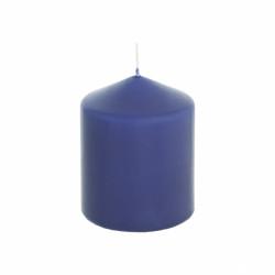 Свеча столбик темно-синяя 10см., арт. 0878