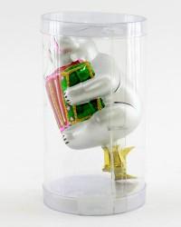 """Елочная игрушка """"Мишка с гармошкой"""" 8,5см, арт.1407"""