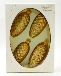 "Елочная игрушка, набор из 4шт. ""Шишка"" 11см., арт.1411"