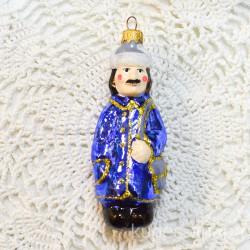 "Елочная игрушка ""Почтальон Печкин Простоквашино"" синий зимний, арт. 1438 ID4168"