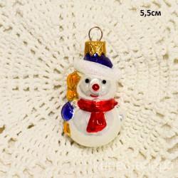"""Елочная игрушка """"Снеговик"""" красный шарф, арт. 1469 ID4175"""