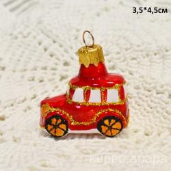 """Елочная игрушка """"Машина"""" мини красная, арт.5895 ID4176"""