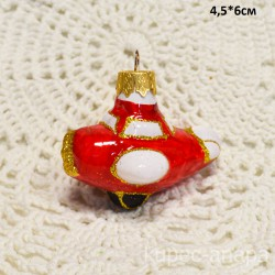 """Елочная игрушка """"Самолет"""" красный, арт. 1469 ID4172"""
