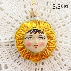"Елочная игрушка ""Солнце желтое"", арт. 1444. ID1982"