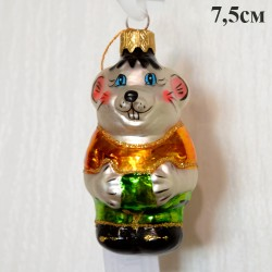 """Елочная игрушка """"Мышонок из Кота Леопольда"""" желтый, арт. 1447. ID2002"""