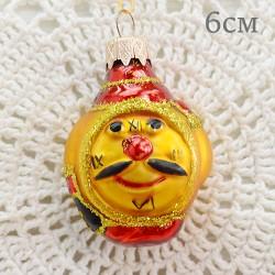 """Елочная игрушка """"Часы - будильник. Золотой"""", арт. 1444. ID1975"""
